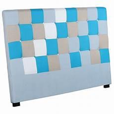 tete de lit patchwork t 234 te de lit capitonn 233 e quot patchwork quot 180cm bleu