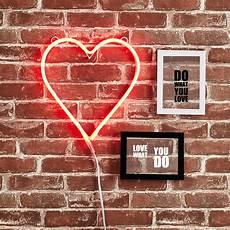 urban shop heart neon light sign wall decor walmart com