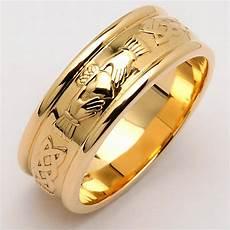 irish wedding ring men s wide corrib claddagh wedding