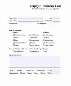 employee termination paperwork letters free sle letters