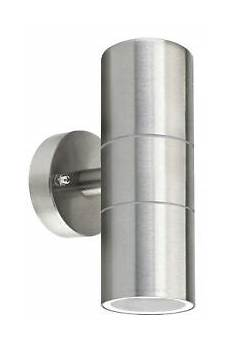 stainless steel up down wall light gu10 ip65 double outdoor wall light zlc03 5060233374496 ebay