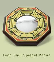 feng shui spiegel symbole tiere figuren bagua bereiche