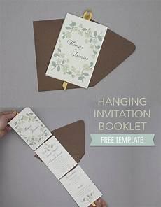 diy floral hanging invitation booklet