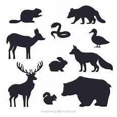 Kostenlose Malvorlagen Tiere Silhouette Tiere Silhouetten Sammlung Kostenlose Vektor