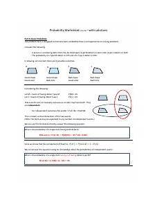 probability worksheets with solutions 5909 probability worksheet with answers 1 31 14 pdf probability worksheet with solutions part a