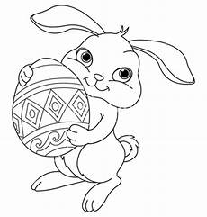 easter bunny with basket coloring pages at getdrawings