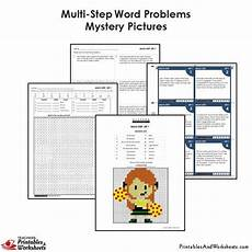 4th grade multi step word problems mystery pictures coloring worksheet printables worksheets