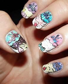 kawaii nail art cupcake nail art illustration style