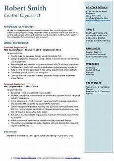 control engineer resume sles qwikresume