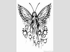 Coloriage fee papillon sur Hugolescargot.com