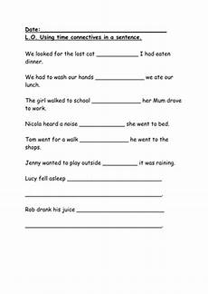 time connectives worksheets grade 2 3515 time connectives ks1 iwb and worksheets teaching resources