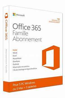 Logiciel Microsoft Office 365 Famille 5 Pc Ou Mac