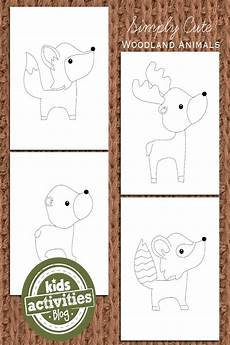 coloring book pages animals 16921 adorable woodland animal coloring pages for activities