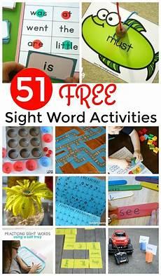 51 free sight words games and activities to help preschool prek kindergarten first grade and