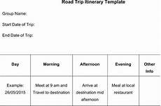 application road trip 66 itinerary template free
