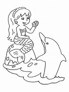 dolphin and mermaid coloring pages at getcolorings