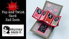pop and twist card template mini pop and twist card made easy
