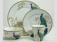 222 Fifth Peacock Garden 16 piece Dinnerware Set