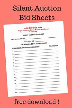 bid free and print copies great for silent auctions