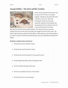 aesop s fables reading comprehension 4 freeology