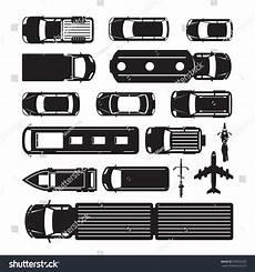 fahrzeug mit planen vehicles cars transportation top above view stock vector