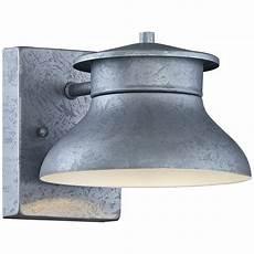 danbury 5 quot high galvanized steel led outdoor wall light 7k633 ls plus