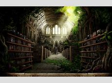 Movie Library   Fantasy & Abstract Background Wallpapers