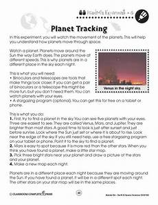 space science worksheets 13402 earth space science planet tracking worksheet grades 1 to 5 ebook worksheets ccp