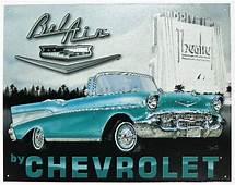 Chevrolet Bel Air Mind Tin Metal Sign 1957 Chevy 57