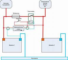 batterie trennrelais 12v schaltplan wiring diagram