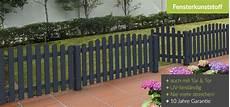 Gartenzaun Aus Kunststoff In Anthrazit 10 Jahre Garantie