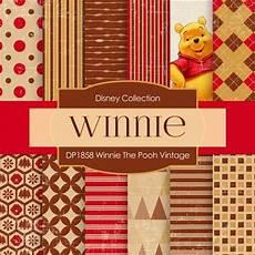 winnie the pooh vintage digital paper dp1858 digital