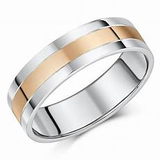 6mm silver 9ct rose gold wedding ring silver 9ct gold two tone at elma uk jewellery