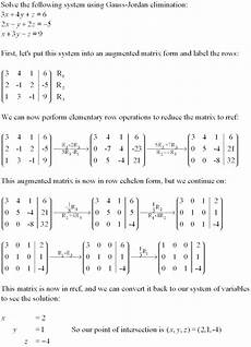 systems of linear equations tutorial