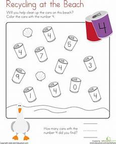 coloring 4 recycling at the worksheet education com
