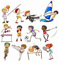 Different Types Of Sports Played By Stock Images