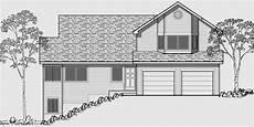 sloped lot house plans house front color elevation view for 9942 side sloping lot