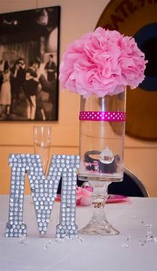 tissue paper centerpieces like the letter the table