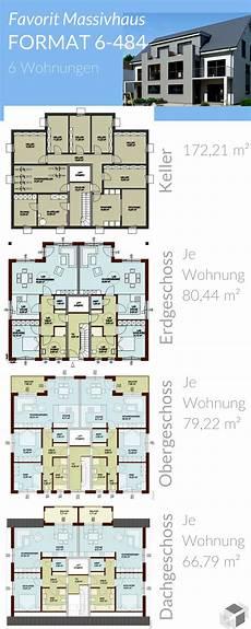 Mehrfamilienhaus Mit 6 Wohnungen Favorit Massivhaus