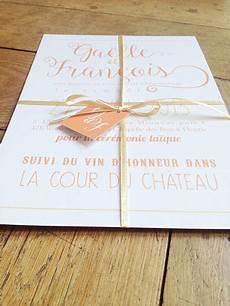15 Fairepart Mariage Retro Romantique Orange Or En 2019
