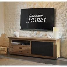 meuble tv atelier meuble tv style atelier noir en ch 234 ne meubles jamet