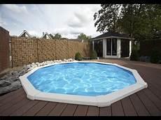 Pool In Erde Einbauen - rundpool einbau rundbecken einlassen stahlwandpool rund
