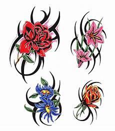 tribal blumen tattoo tribal flower clipart best