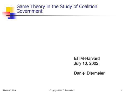 Game Theory In Politics