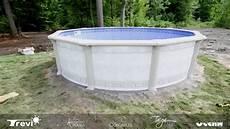 piscine acier galvanisé enterrée installation piscine ht miramar ronde