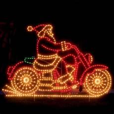weihnachtsmann auf motorrad gif the animated santa motorcycle hammacher schlemmer
