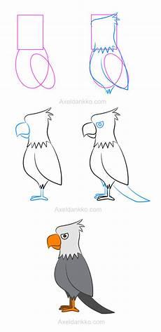 aigle dessin facile how to draw an eagle comment dessiner un aigle more