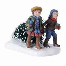figurine noel figurine enfant et sapin de no 235 l de noel eminza