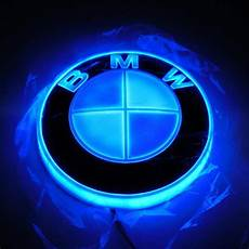 for bmw 4d effect 82mm led blue and white logo lights car