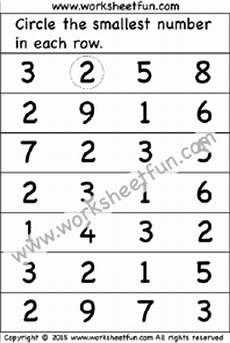 number comparison smallest number 1 worksheet free